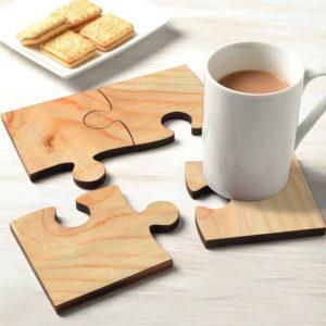wood tea coaster